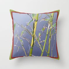 Bamboo Throw Pillow by Susan in Paris - $20.00