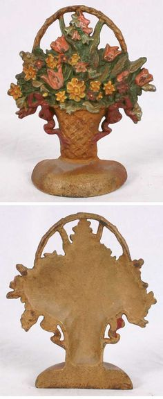 I also found this one as well!  Victorian Cast Iron Flower Basket Doorstop Tulips