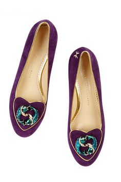 Charlotte Olympia's Zodiac Shoes Do Everything But Predict Your Future #refinery29  http://www.refinery29.com/2013/04/45173/charlotte-olympia-cosmic-zodiac-signs-shoe-bag-collection-2013#slide5  Charlotte Olympia Cosmic Collection Pisces shoe, £495, available at Charlotte Olympia.