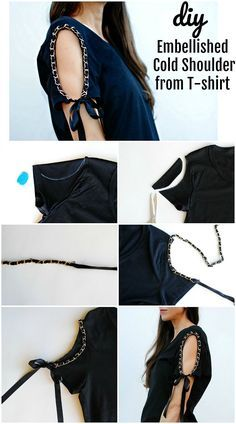 Sewing clothes refashion trash to couture 61 Ideas Trash To Couture, Umgestaltete Shirts, Diy Kleidung, Diy Mode, Diy Vetement, Clothing Hacks, Sewing Projects For Beginners, T Shirt Diy, Diy Tshirt Ideas