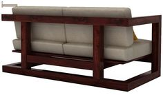 Skyler Woodan Sofa Sets (Mahogany Finish)-6 …