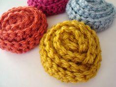How to Crochet a no Sew Rosette - Tutorial ❥ 4U // hf