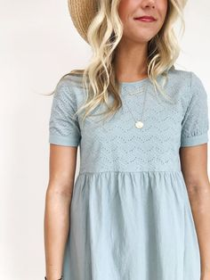 Blue Summer Linen Dress | ROOLEE...