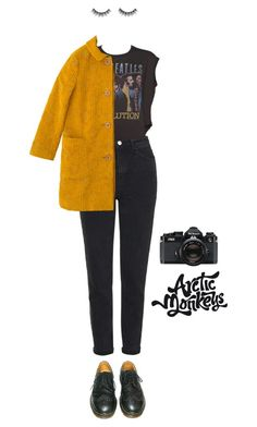"""the yellow band"" by julietteisinthe80s on Polyvore featuring Topshop, Junk Food Clothing, Sally Scott, Dr. Martens and Nikon"