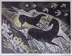 """Love this Depth, Movement and Simplicity of this piece. """"Night Flight"""" by Sarah Young"""