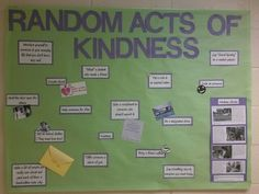 Random Act of Kindness board this month. (September 2013) - Res Life - RA - Resident Adviser - Bulletin Board