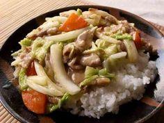 お手軽に!白菜&人参&豚コマの中華丼の画像