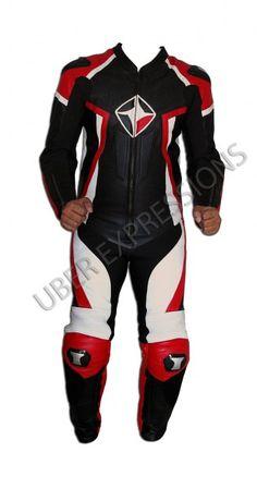 Kore Cobra Red Black One Piece Motorbike Racing Leather Suit