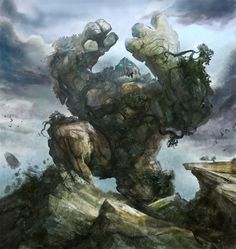 """Earth Elemental by *stevegoad"" - Earth Elemental Logan on the warpath ~;^]>"
