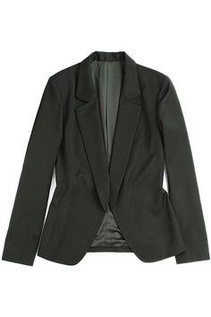 #ROMWE Single-breasted Black Blazer
