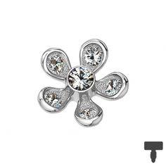 9 mm Dermal Anchor silber Blume in Materialstärke mm Dermal Anchor, Chf, 9 Mm, Diamond Earrings, Engagement Rings, Jewelry, Silver, Florals, Dermal Piercing