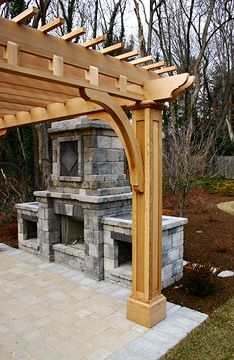 Post and Bracket Pergola No. BP4b
