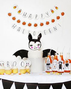 Batty simple graphic halloween party