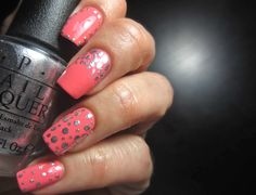 """dots using OPI """"MY Signature is DC"""" from the Coke collection 2014"""