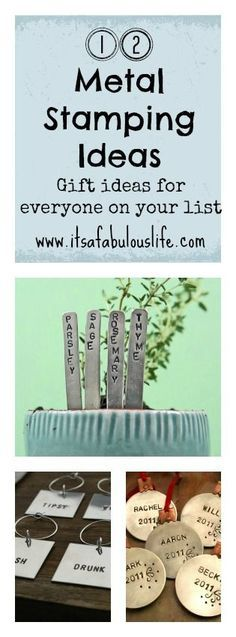 12 Metal Stamping Ideas + 2013 Best of Bloggers Gift Guide Giveaway: Beaducation! -