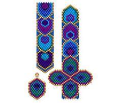 Peacock Plume Bracelet and Earring Set, Sova Enterprises