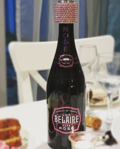 Luxurious black bottles with neon pink writing. Wait till you pop the cork an release the bright pink bubbles of Luc Belaire. 22 Birthday, Sauce Bottle, Liquor, Eve, Collections, Drinks, Food, Drinking, Alcohol