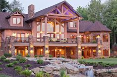 Custom Hybrid Log Homes & Timber-Frame Homes – Photo Gallery by Wisconsin Log Homes - Exteriors - Wisconsin Log Homes