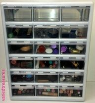 varied treasures: New #Makeup #Storage #Organization #DIY