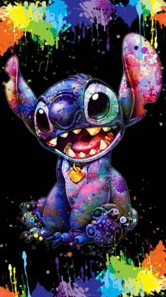 Obviously colorful stitch Stitch manifiquement coloré Obviously colorful s … – funny wallpapers backgrounds Cartoon Wallpaper Iphone, Disney Phone Wallpaper, Cute Cartoon Wallpapers, Cute Wallpaper Backgrounds, Wallpaper Quotes, Wallpaper Awesome, Minion Wallpaper, Drawing Wallpaper, Pink Wallpaper