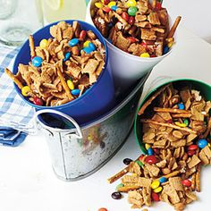 Super Bowl Appetizers | Easy Snack Mix | SouthernLiving.com