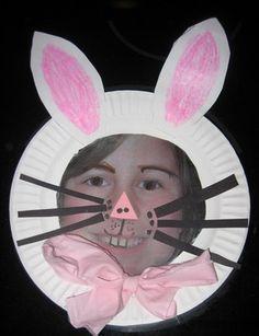 Paper Plate Bunny Frame