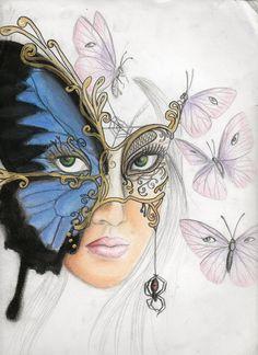 venitian butterfly mask by on DeviantArt Butterfly Mask, Butterfly Drawing, Drawing Sketches, Art Drawings, Venitian Mask, Jester Mask, Venice Mask, Mask Drawing, Carnival Masks