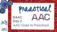 ISAAC 2012, Day 2: AAC Goes to Preschool