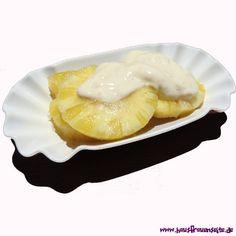 Ananas in weißem Rum - New Ideas Sauerkraut, Rum, Fitness Drink, Camembert Cheese, Dairy, Food, Ideas, Pineapple Recipes, Essen