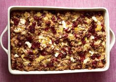 wild rice casserole with cranberries goat cheese