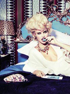 Bianca Balti by Ellen von Unwerth for Vogue Italia February 2013.