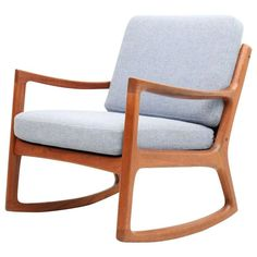 Vintage Teak Rocker by Ole Wanscher, Denmark | From a unique collection of antique and modern rocking chairs at http://www.1stdibs.com/furniture/seating/rocking-chairs/