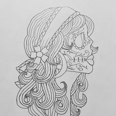 Calavera catrina coloring pages Skull Coloring Pages, Coloring Pages For Girls, Coloring Pages To Print, Coloring Book Pages, Printable Coloring Pages, Coloring Sheets, Adult Coloring, Kids Coloring, Day Of The Dead Girl