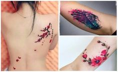 Imágenes de tatuajes tipo acuarela