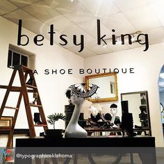 LOVE this shot from @typographicoklahoma!! #betsykingshoes #betsyandmarla #paseo