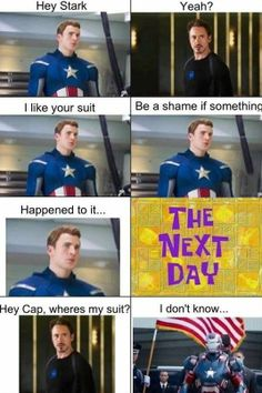 funny captain america   ... http funny pictures blog com 2013 04 25 iron man vs captain america