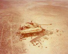 Destroyed M-51 - Yom Kippur War.