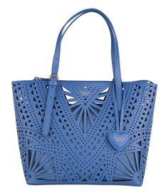De Bora Bora Medium Perforated Shopping Bag van Tosca Blu (€198,00)