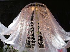 Flower and Fabric Chandelier