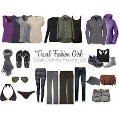 """Safari Clothing Packing List - Travel Fashion Girl"" by travelfashiongirl on Polyvore Urban Outfitters Outfit, Safari Look, Safari Chic, Travel Wardrobe, Capsule Wardrobe, Wardrobe Ideas, Packing List For Travel, Packing Tips, Travel Tips"