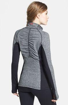Hard Tail Half Zip Shirred Pullover | Nordstrom