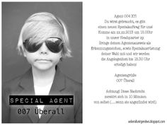 Überall & Nirgendwo: Happy Birthdaytime again! This year: Agentenparty!