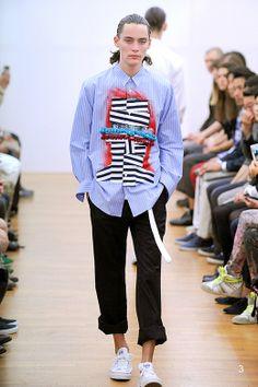 コムデギャルソン・シャツはグラフィック、パターンのシャツバリエーションを披露【14SSパリメンズ】