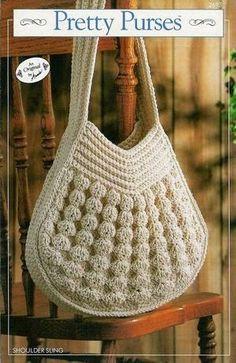 Muitas inspirações de bolsas em crochê.. Para todos os estilos, mais casual, mais romântica, mais discreta.... ...