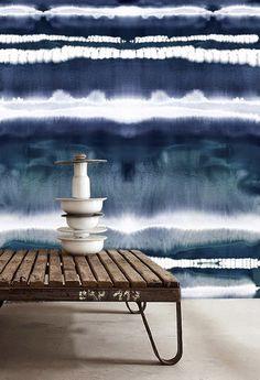 indigo blue watercolor effect #walls #indigo