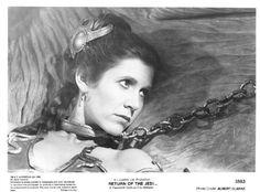 Star Wars Carrie Fisher as Princess Leia Star Wars Film, Star Wars Art, Carrie Frances Fisher, Forest Lawn Memorial Park, Saga, Star Wars Timeline, Han And Leia, Lando Calrissian, Jabba The Hutt