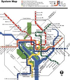 Washington DC - one of my most favorite public transit systems (and maps)