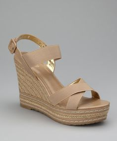 Take a look at this Beige Thrice Espadrille by Charles by Charles David on #zulily today!