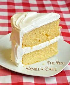 The Best Vanilla Cake - a real old fashioned comfort baking recipe that uses evaporated milk to add rich moistness and extra depth of flavour in this very. very popular cake from RockRecipes.com