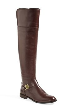 Absolutely stunning! In love with these chestnut over the knee leather boots.